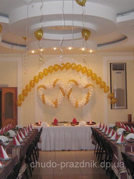 Аэродизайн Свадебная арка из шаров